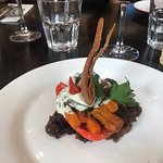 roasted mediterranean vegetables with goats cheese