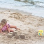 Build a sandcastle on our private sand beach.