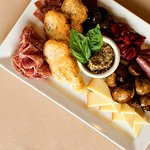 Meat and Cheese Board: Perfect appetizer for two!