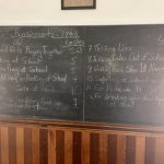 The 'lashings' board...the teaches must have been quite busy whipping the school children!
