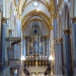 Magnificent interior of Basilica San Domenico Maggiore