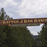 Rafter J Bar Ranch sign