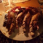 Lobster on table
