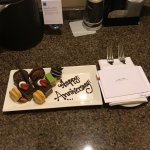 A special treat left in our room. Thanks Hyatt staff!