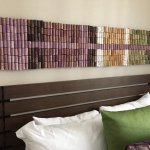 Cork headboard in room
