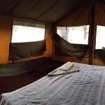 Our Safari tent in the Serengeti where we woke up to Zebras in the morning