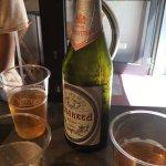 Sampling local beer