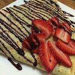 Nutella Strawberry Crepe.
