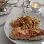 Filet de Cherne com risoto de macadâmias e aspargos - Prato EXCELENTE!