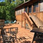 Riverside cabin deck