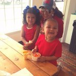 kids eating ice cream cones