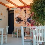 Outside seating area - pleasantly cool and shady on hot afternoons
