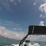 Parasailing on a beautiful day