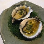 Oysters with Ginger and rice vinegar
