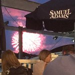 Diners eating and watching the fireworks on our deck!