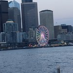 The Seattle Great Wheel Along The Waterfront