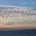 Herringbone Cloud Formations At Twilight