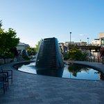 Harborside Fountain Park On A Quiet Sunday Evening
