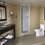 Walk in shower and vanity. Executive Suite.