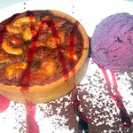 Nut Tart with Huckleberry Ice Cream, Log Haven, Mill Creek Canyon, Salt Lake City, Utah