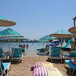 Olu Deniz private sandy beach at lagoon
