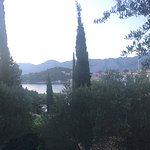 View from the balcony towards Cavtat harbour.