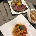 Steak and king prawn linguini- Bar and Bistro