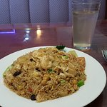 Pineapple Fried Rice and Iced GingerTea.