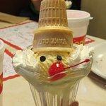 The icecream cone in kid's menu