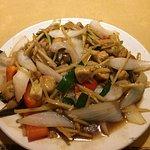 Vegetarian tofu ginger dish