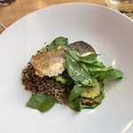 Fish with lentils and quinoa