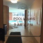 Pool Hours at entrance Best Western Plus Inn