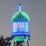 Lit at Night Water Tower Sign, Trolley Square, Salt Lake City, Utah