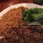 Nice steak and rice