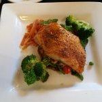 Meatloaf,  salmon special, shrimp chowder