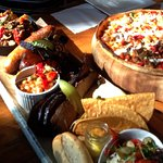 Big Smoke BBQ Share Platter and Spicy Lamb Pizza