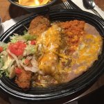 The pick two platter....chili relleno and chicken enchillada.