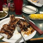 The ribs were fall-off-the-bone and great tasting.The sweet corn was apparently fresh from the f