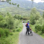 Our bikes on the trail near Muckross Abbey.
