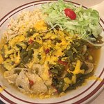 Chicken enchilada.