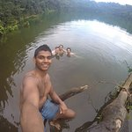 Swimming in the lagoon of Cerro Chato