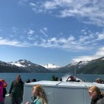 On the top deck of the 26 Glacier Cruise