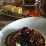 David's famous pancakes were as beauriful as they were delicious!