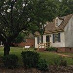 The Washington Cottage (near) and Jefferson Cottage (far)