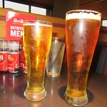 Hard Cider (short), Beer (Tall), Red Robin Gourmet Burgers, Santa Clara, CA