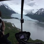 In the Heli to land on the glacier!