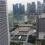 View of marina Bay area from room.