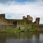 Caerphilly Castle on the walk in.