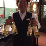 Sensational tasty canapés in the club lounge. Zack the wonderful waiter who will look after all