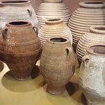 Museum of the Olive and Greek Olive Oil. Oil container Jugs